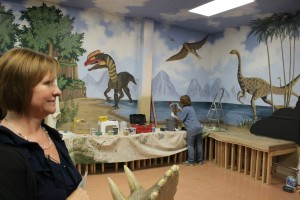 The new dinosaur exhibit room currently being built at the St. George Children's Museum, St. George, Utah, April 27, 2016 | Photo by Mori Kessler, St. George News