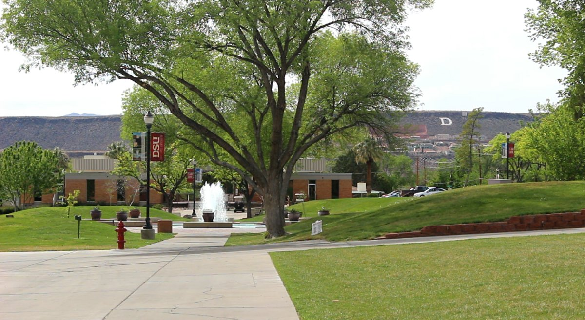 On the campus of Dixie State University, St. George, Utah, April 6, 2016   Photo by Mori Kessler, St. George News
