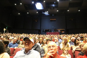 People pack the Cox Performing Art's Center auditorium in anticipation of the reveal of Dixie State University 's new identity and mascot, St. George, Utah, April 11, 2016 | Photo by Mori Kessler, St. George News