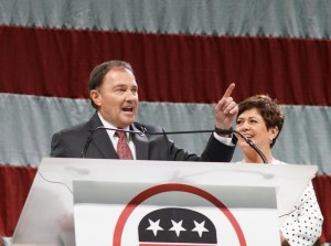GOv. Gary Herbert was forced into a primary by Overstock.com chairman Jonathan Johnson for the Republican nomination of governor after garnering 55 percent of the delegate vote to Herbert's 44 percent at the Utah GOP state convention, Salt Lake City, Utah, April 23, 2016 | Photo courtesy of the Utah Republican Party, St. George News