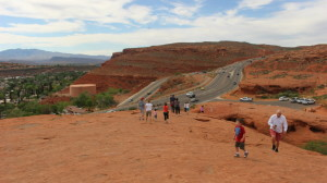 Familes hiking to the top of the Sugerload/Dixie Rock, St. George, Utah April 4, 2016 | Photo by Mori Kessler, St. George News