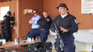 The St. George Police Department hosted the St. George City Council with a demonstration of techniques and equipment use at the police shooting and training range, St. George, Utah, April 14, 2016 | Photo by Mori Kessler, St. George News