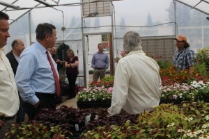 The St. George City Council pays a visit to one of the city's green houses at Vernon Worthen Park, St. George, Utah, April 14, 2016 | Photo by Mori Kessler, St. George News