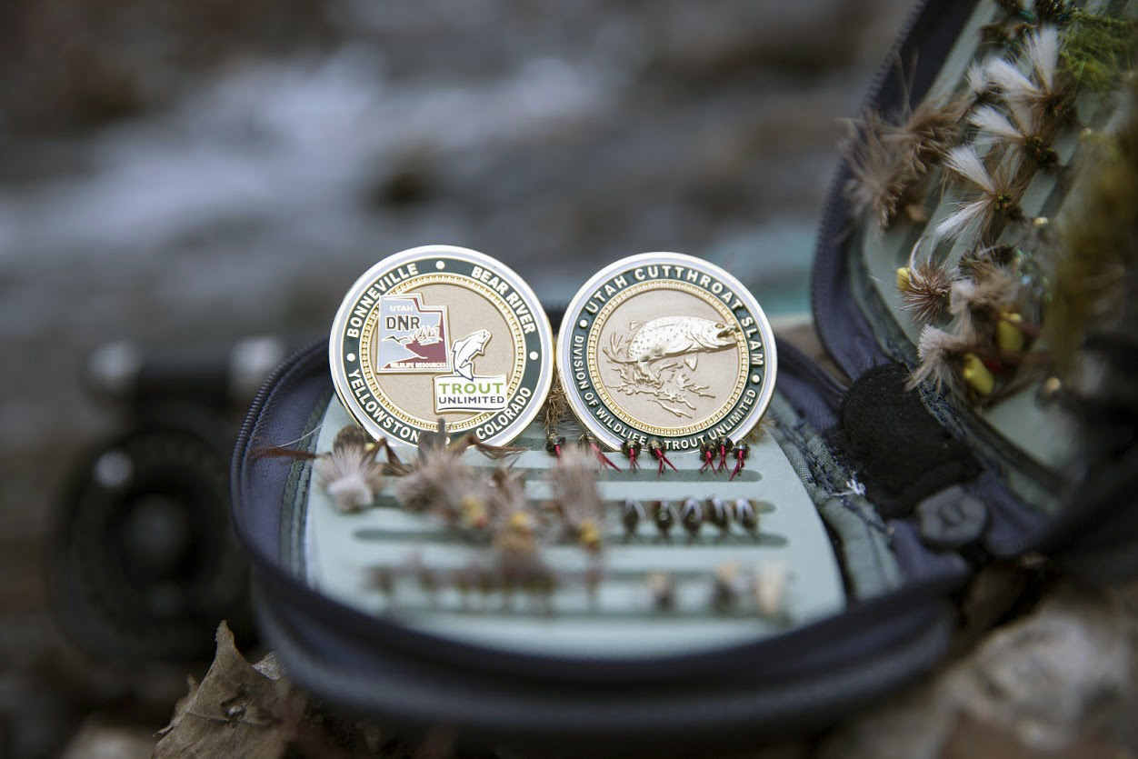 If you register in the Utah Cutthroat Trout Slam program and catch all four cutthroat trout, you'll receive this medallion. April 2016 | Photo by Mike Christensen, Utah Division of Wildlife Resources, St. George News