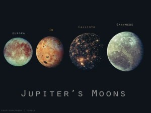 The four moons of Jupiter   Photo courtesy of Southern Utah Space Foundation, St. George News