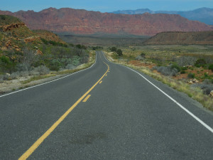 A federal grant helps fund safety improvements on old Highway 91 in western Washington County, Utah, April 21, 2016 | Photo by Julie Applegate, St. George News