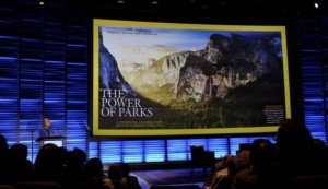 A movie shown at today's speech by Interior Secretary Sally Jewell, Washington, D.C., April 19, 2016 | Photo courtesy of Department of the Interior, St. George News