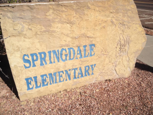 Springdale Elementary sign, Springdale, Utah, date not specified | Photo courtesy of Joyce Hartless, St. George News
