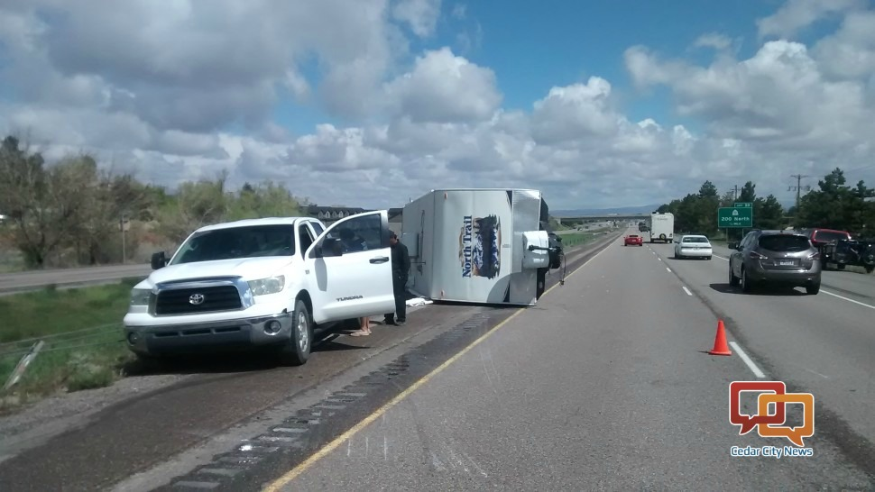 News Short Travel Trailer Totaled After Flipping On Its