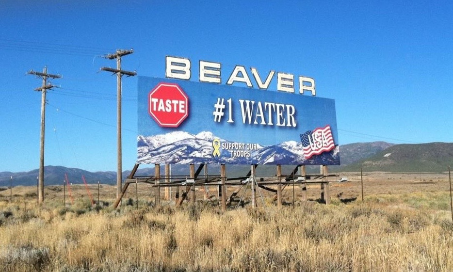 Beaver City welcoming sign off Interstate 15, Beaver, Utah, November 2011 | Photo by Peeweejd via Wikimedia Creative Commons; St. George News