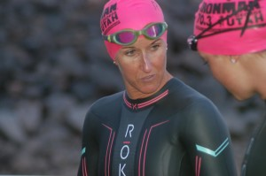 Pro triathlete Meredith Kessler before the swim. Kessler was the first pro woman out of the water at Ironman 70.3 St. George North American Pro Championship. Sand Hollow Reservoir, Sand Hollow State Park, Hurricane, Utah, May 7, 2016 | Photo by Hollie Reina, St. George News