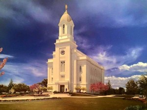 Rendering of Cedar City Latter-day Saint Temple, Cedar City, Utah | Photo courtesy of LDS public affairs, St. George/Cedar City News