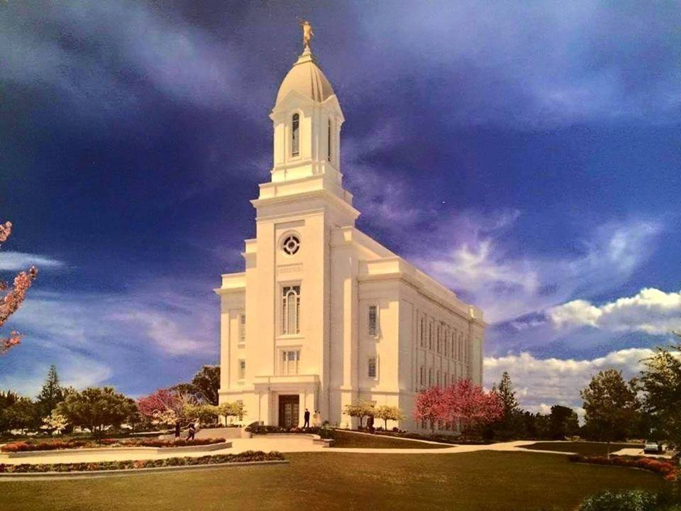 Here Comes The Steeple LDS Temple Gets New Top Cedar
