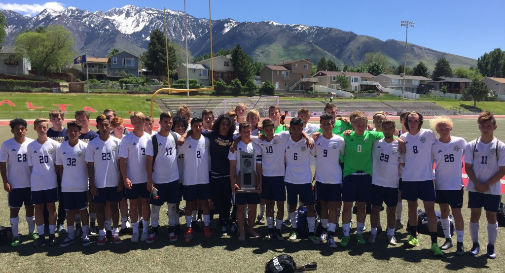 The 2016 Wqarriors took second place at state, Snow Canyon vs. Juan Diego, 3A state soccer championship, Sandy, Utah, May 14, 2016 | Photo by A.J. Griffin, St. George News