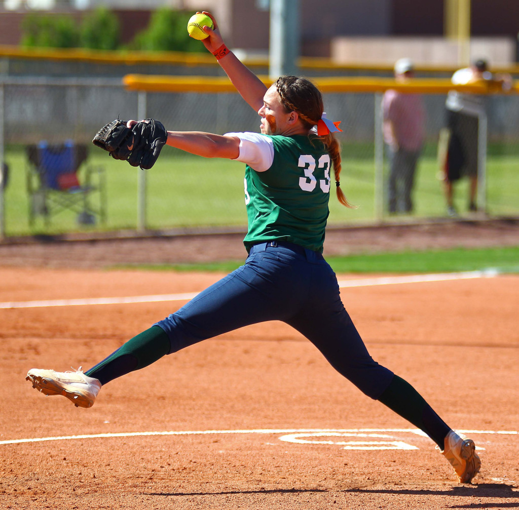 Snow Canyon's Heather Prestwich (33), Desert Hills vs. Snow Canyon, Softball, May 3, 2016, | Photo by Robert Hoppie, ASPpix.com, St. George News
