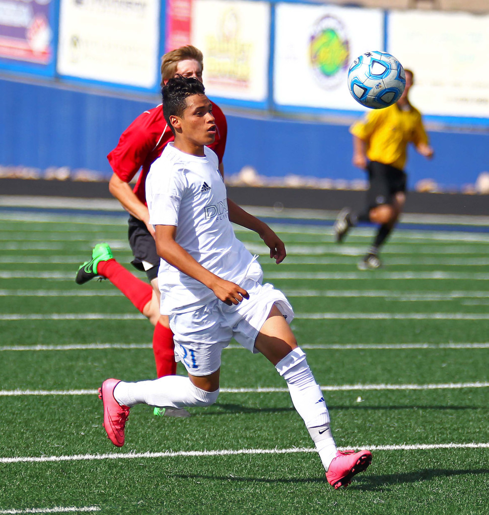"Dixie's Jose ""Tauri"" Morales (21), Dixie vs. North Sanpete, Soccer, May 5, 2016, 