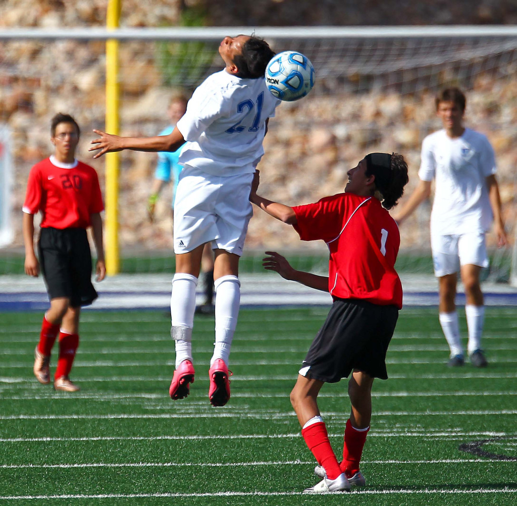 """Dixie's Jose """"Tauri"""" Morales (21), Dixie vs. North Sanpete, Soccer, May 5, 2016, 