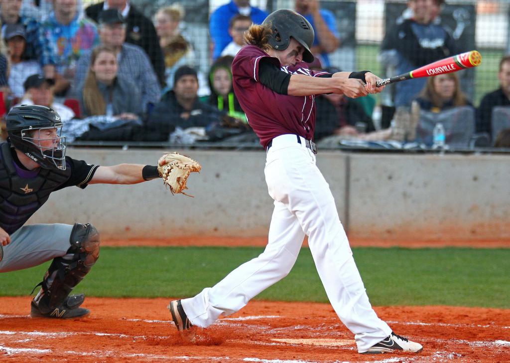 Pine View's Jagun Leavitt (11), Pine View vs. Desert Hills, Baseball, May 6, 2016, | Photo by Robert Hoppie, ASPpix.com, St. George News