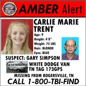 Amber Alert Carlie Trent