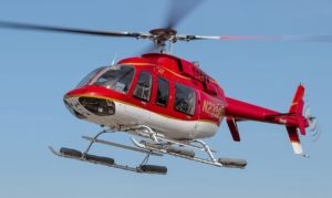 A Bell 407 helicopter similar to the one pictured was used in a rescue near Cane Beds, Arizona   Creative Commons image courtesy of stuart.mic, Wikipedia, St. George News