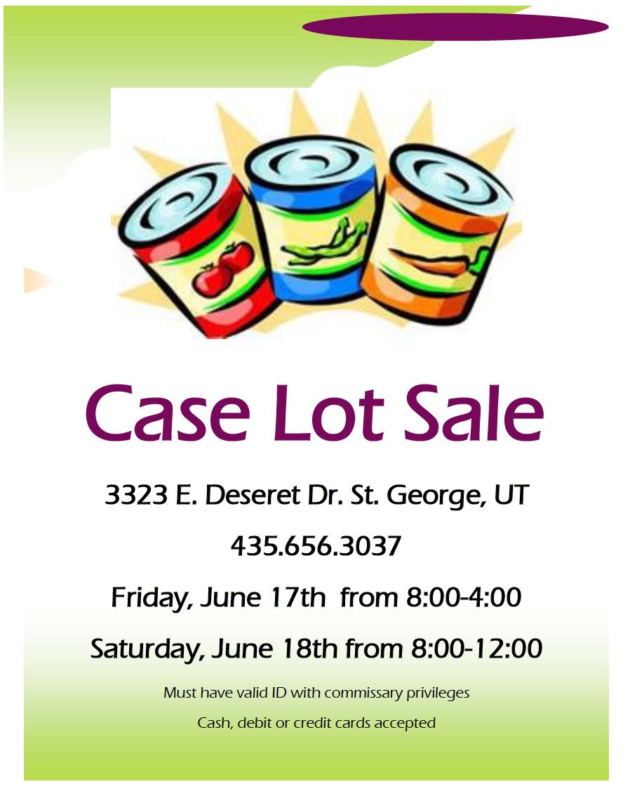 Case Lot Sale flier