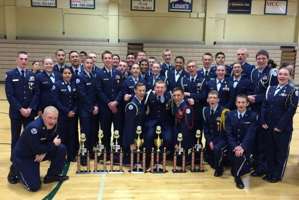 Drill Meet, Dixie Wings Air Force junior ROTC Cadets, Bullhead City Ariz., Feb. 6, 2016 | Photo courtesy of Col. Glenn Whicker, St. George News