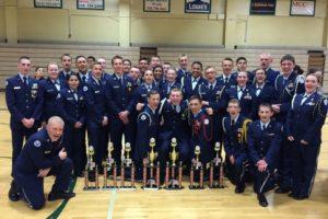 Drill Meet, Dixie Wings Air Force junior ROTC Cadets, Bullhead City Ariz., Feb. 6, 2016   Photo courtesy of Col. Glenn Whicker, St. George News