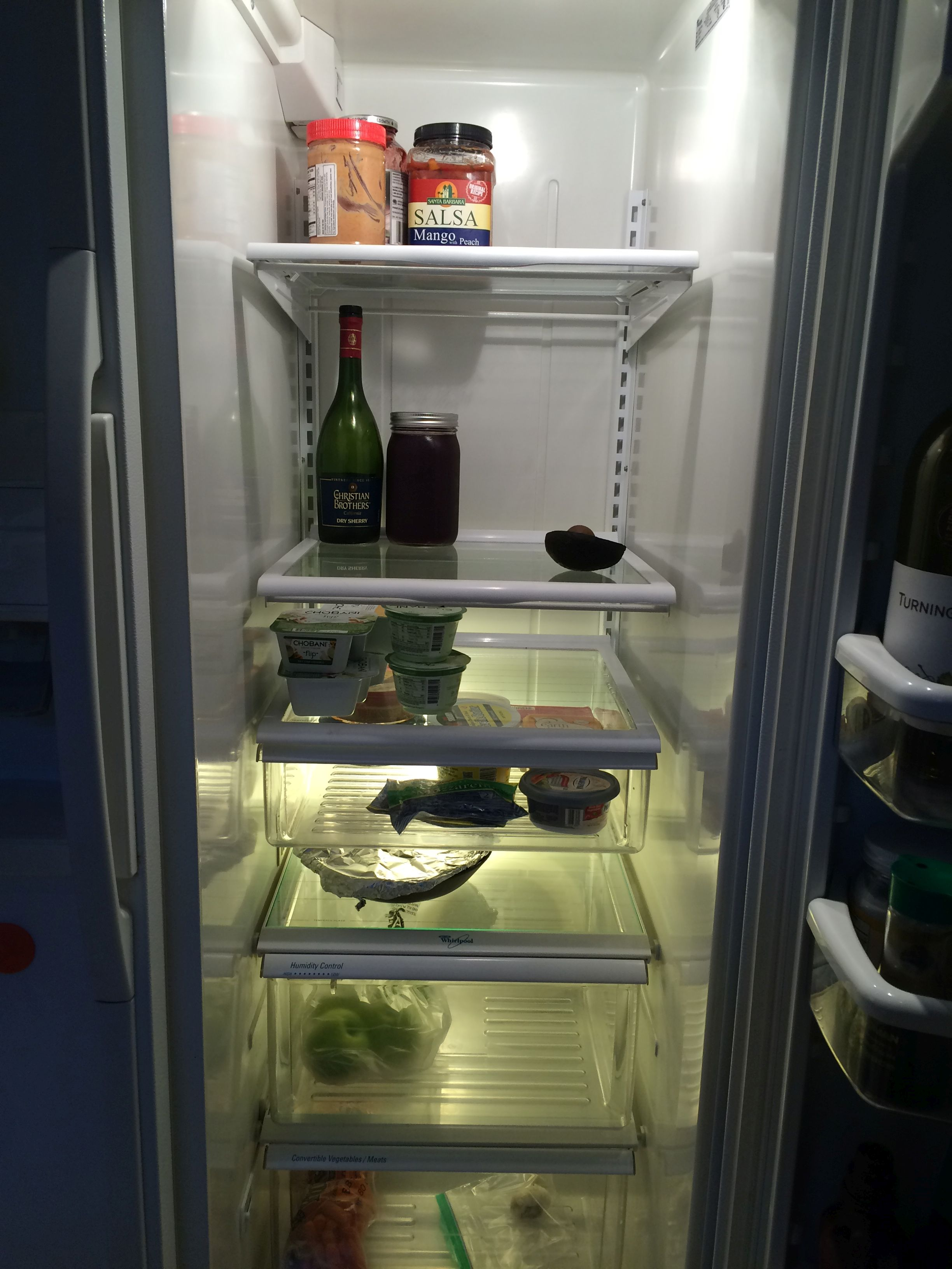 Post-vacation refrigerator contents, Salt Lake City, Utah, May 9, 2016 | Photo by  and courtesy of Erynn Montgomery, St. George News