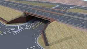 An rendering of how the Mall Drive Underpass may look once completed.   Image courtesy of the Utah Department of Transportation, St. George News