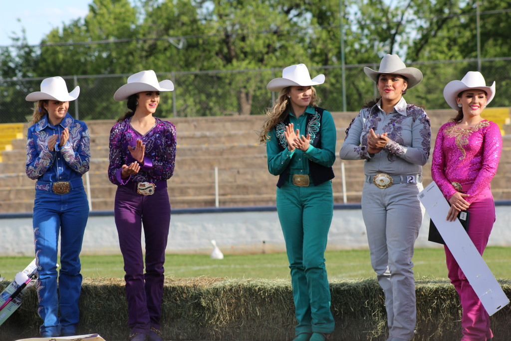 L - R: Courtney Payne, McKayla Jimmerson, Ashton Anderson, Cierra Christensen, and Aubrey Schaffer, 2016 St. George Lions Dixie Roundup Rodeo Queen and Princess Contest, Dixie Sunbowl, 150 South 400 East St. George, Utah, May 5, 2016 | Photo by Cody Blowers, St. George News