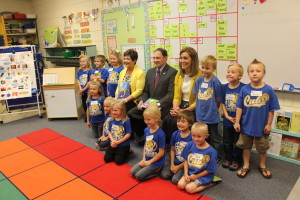 Utah Governor Gary Herbert visited LaVerkin Elementary after the students issued a reading challenge to Herbert and numerous other celebrities and public figures. LaVerkin, Utah, May 12, 2016 | Photo by Don Gilman, St. George News