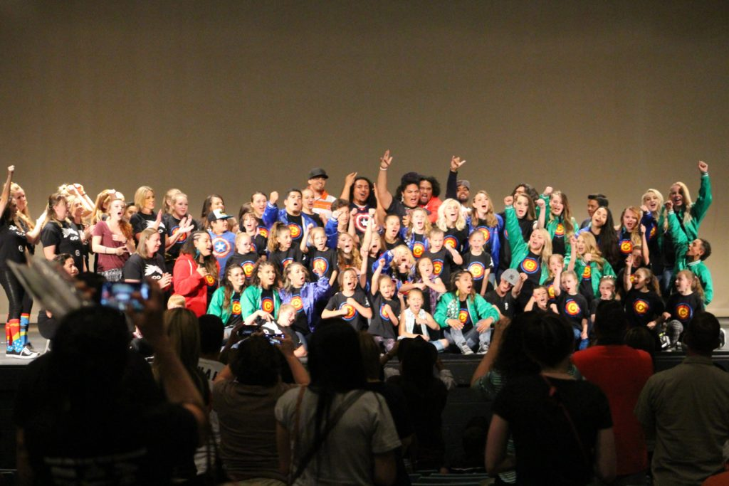 """The grand finale on stage during """"Wake up Jonah"""", fundraising event held in the auditorium at Snow Canyon High School, St. George, Utah, May 21, 2016   Photo by Cody Blowers, St. George News"""