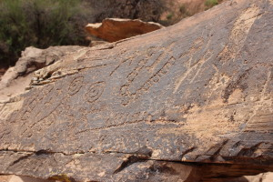 Pictographs at the Fort Pearce site are part of the territory BLM Rangers seek to protect, Warner Valley, Utah, April 10, 2016 | Photo by Don Gilman, St. George News