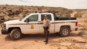 BLM Ranger Scott Lowrey oversees a vast area in Southern Utah and protecting resources is one of his primary responsibilities. St. George, Utah, May 5, 2016 | Photo by Don Gilman, St. George News