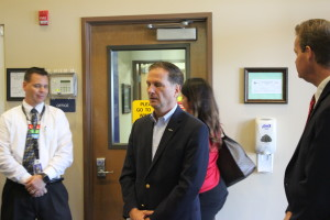 "Congressman Chris Stewart took a tour of the George Washington Academy which was recently named as ""one of the top performing charter schools"" by the National Alliance of Public Charter Schools. St. George, Utah, May 6, 2016 