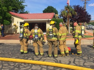 Firefighters responded to a report of a garage fire at a home on the 940 East block of 900 South, St. George, Utah, May 4, 2016 | Photo by Kimberly Scott, St. George News