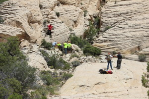 Search and Rescue volunteers rescued a hiker with a broken ankle in St. George, Utah, Wednesday, May 18, 2016 | Photo by Don Gilman, St. George News