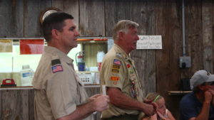 Stephen Wilson (L) and Ben Lott Address the audience at a ceremony honoring five young men who had achieved the rank of Eagle Scout, Leeds, Utah, May 28, 2016 | Photo by Don Gilman, St. George News