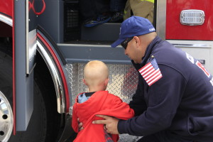 Cedar City Firefighters interacted with the kids in the community all day Saturday during the first-ever Public Safety Appreciation Day created to recognize and thank first responders. Cedar City, Utah May 6. 2016   Photos taken by Cedar City News Reporter Tracie Sullivan St. George/Cedar City News