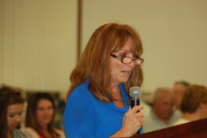 Merry Dawn Lay Johnson addresses the Washington County School District Board of Education, St. George, Utah, Sept. 15, 2015 | Photo by Hollie Reina, St. George News