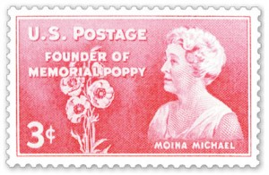 Moina-Michael-Memorial Day Poppy Stamp