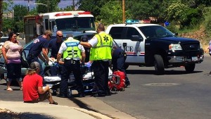 A young boy was transported to the hospital after being struck by an SUV at the intersection of 100 North and 200 East, Washington, Utah, May 13, 2016 | Photo by Kimberly Scott, St. George News