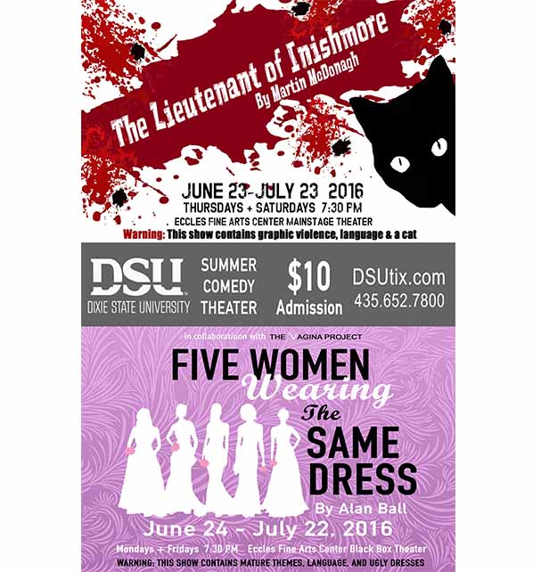 Flier courtesy of Dixie State University Theater's Summer Comedy Theater | Click on image to enlarge