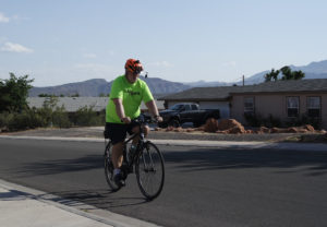 Tim Tabor on his bike in Ivins. May 25, 2016 | Photo courtesy of Tim Tabor, St. George News