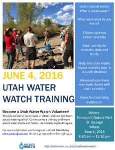 Utah Water Watch Flyer - St. George