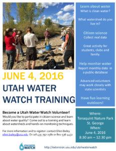 Utah Water Watch Flyer - St. George