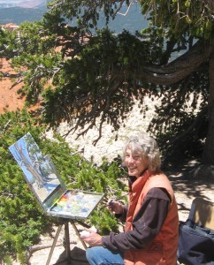 Valerie Orlemann received funds for an easel to facilitate her outdoor painting, Date and location not given, | Photo courtesy of Valerie Orlemann, St. George News