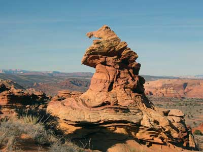 Bizarre sandstone landforms dot the landscape in Coyote Buttes South in the Paria Canyon-Vermilion Cliffs Wilderness area managed by the Bureau of Land Management, Utah and Arizona, circa 2012   Photo courtesy of the BLM, St. George News