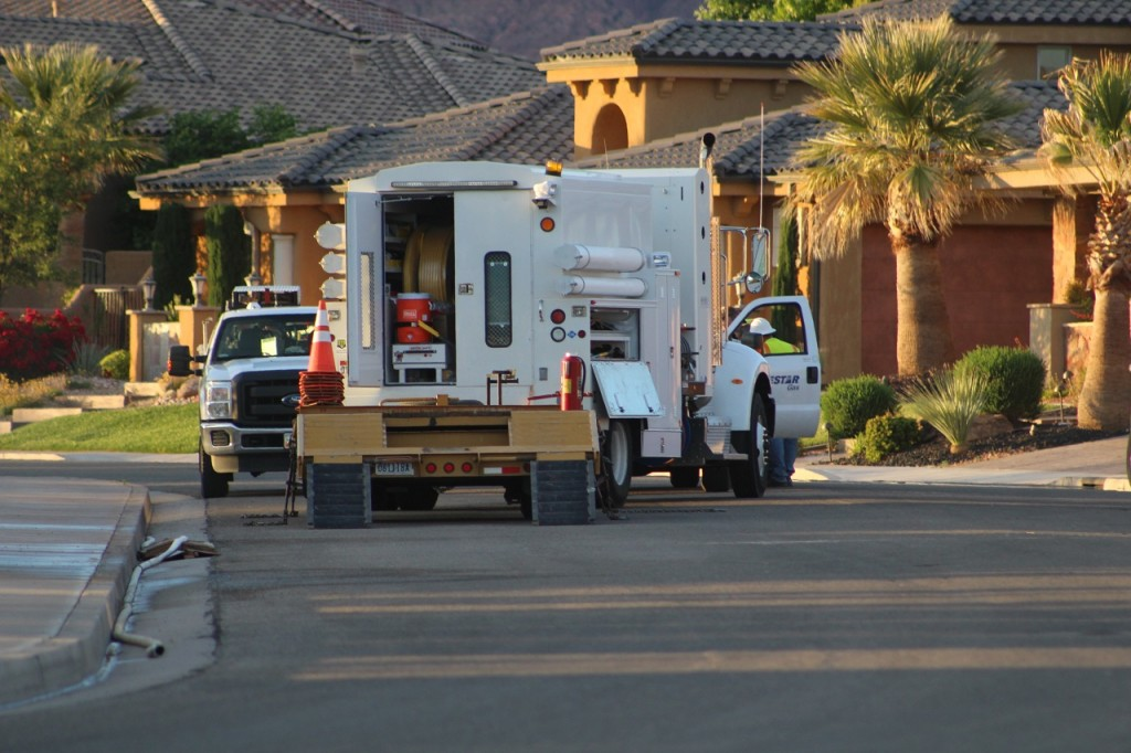 A gas leak in Washington City has caused the evacuation of 8-10 homes in the area and disrupted service to over 200 residents, Washington, Utah, May 11, 2016 | Photo by Cody Blowers, St. George News