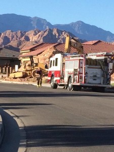 A gas leak in Washington City has caused the evacuation of 8-10 homes in the area, Washington, Utah, May 11, 2016 | Photo by Cody Blowers, St. George News